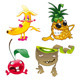 Family of Funny Fruits. - GraphicRiver Item for Sale