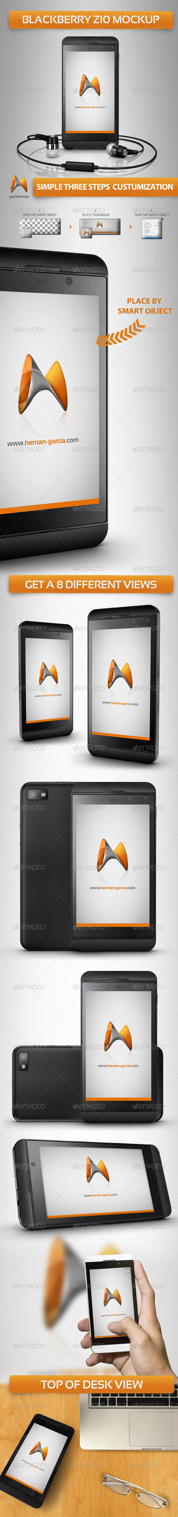 Blackberry Z10 Mock-Ups - Mobile Displays
