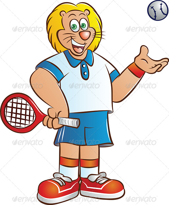 Tennis Player - Animals Characters