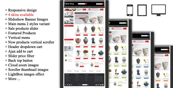 CeraShop Responsive Magento Theme - Shopping Magento