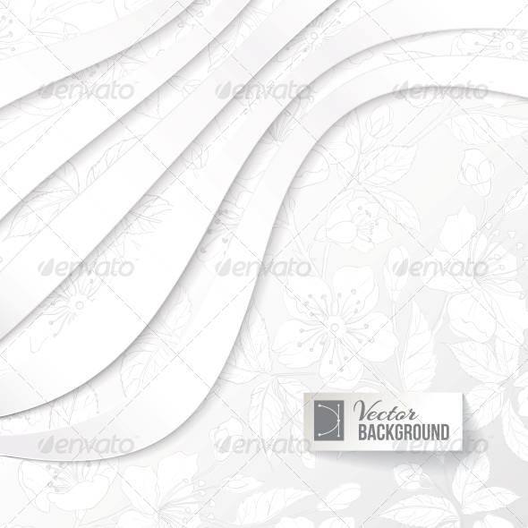 Abstract Background with Floral Elements - Abstract Conceptual
