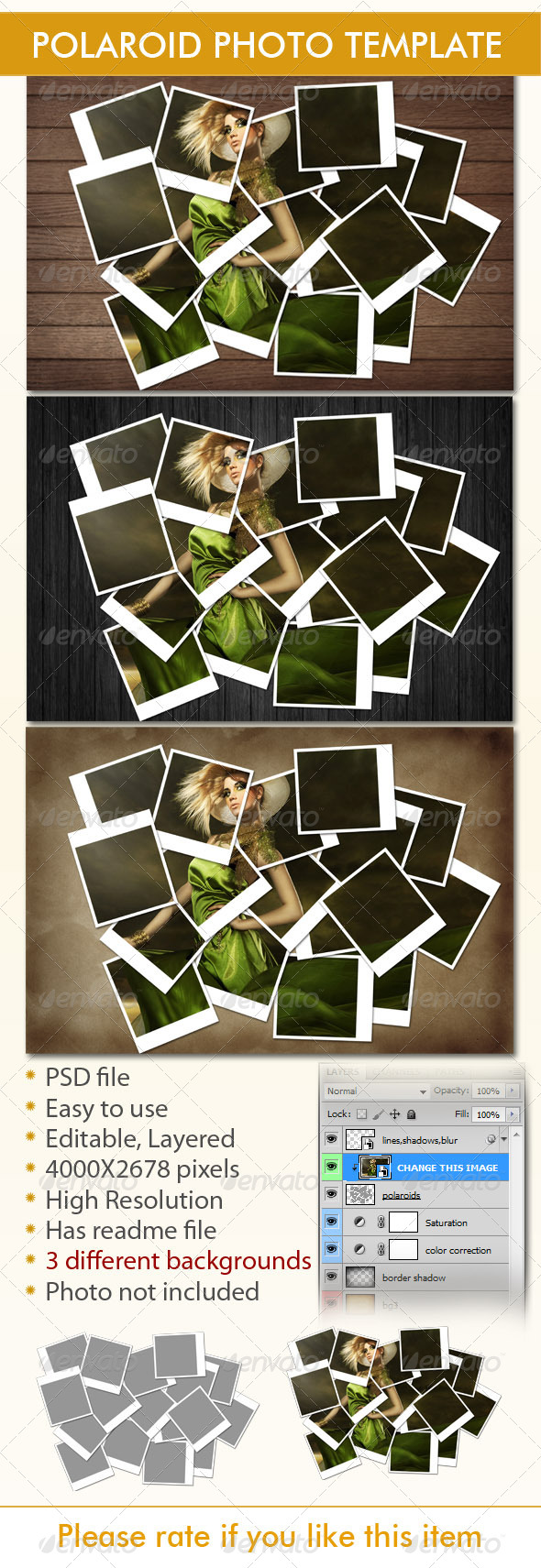 Instant Photo Frames Photo Template - Miscellaneous Photo Templates