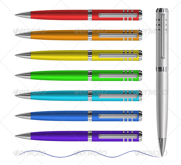 Colored Pen - Objects Vectors