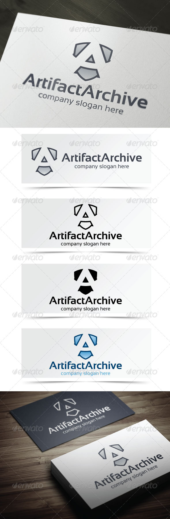 Artifact Archive - Letters Logo Templates