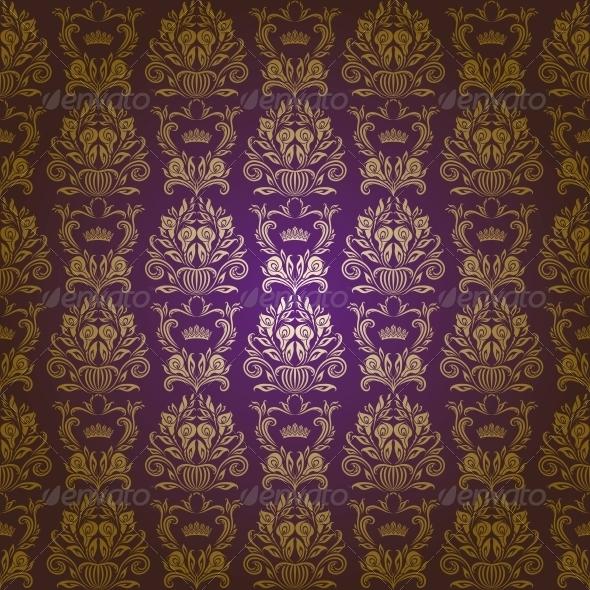 Damask Seamless Floral Pattern - Patterns Decorative