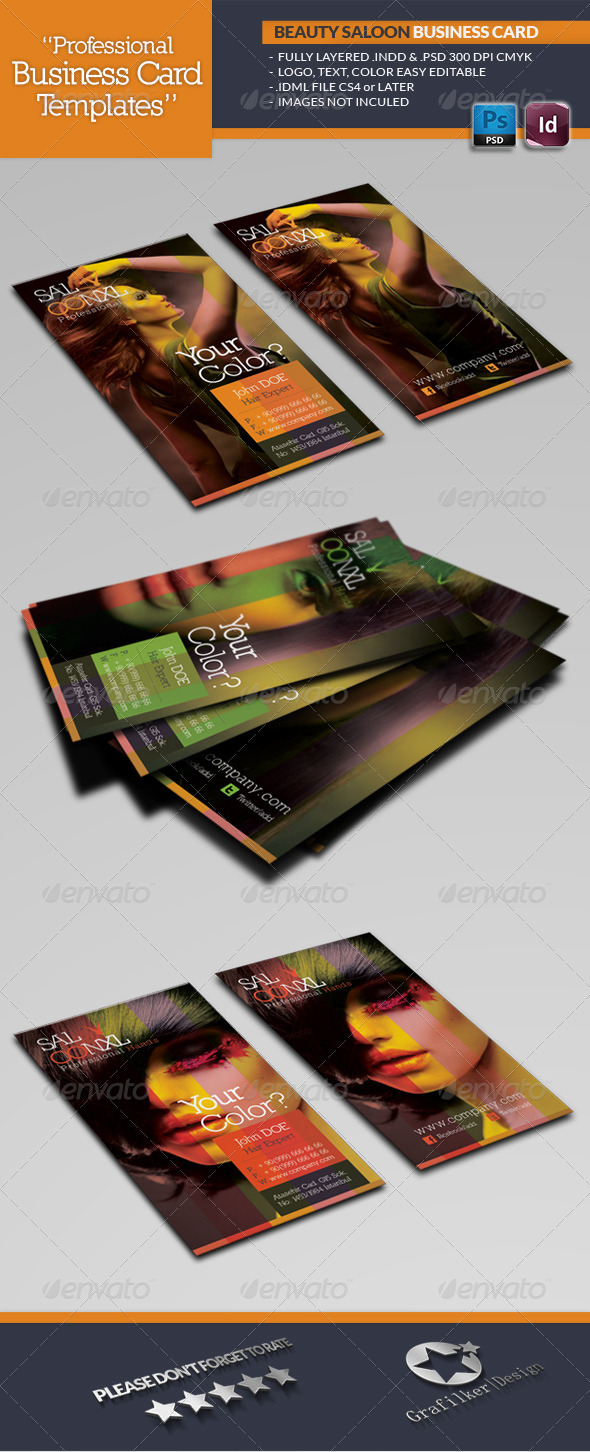 Beauty salon business card template by grafilker graphicriver beauty salon business card template industry specific business cards magicingreecefo Images