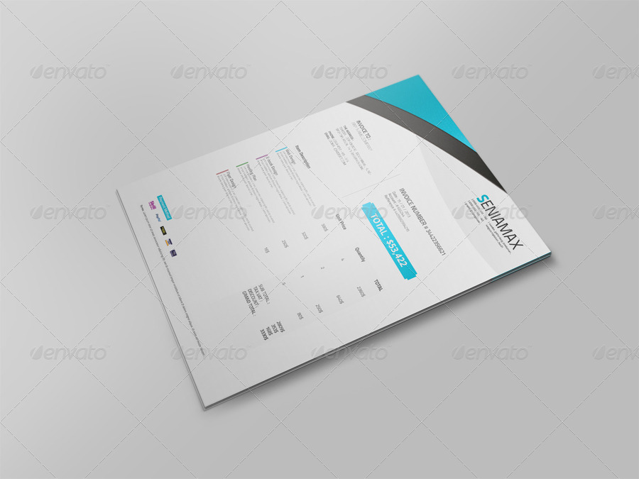 Professional Invoice Template Vol By Msadesign  Graphicriver