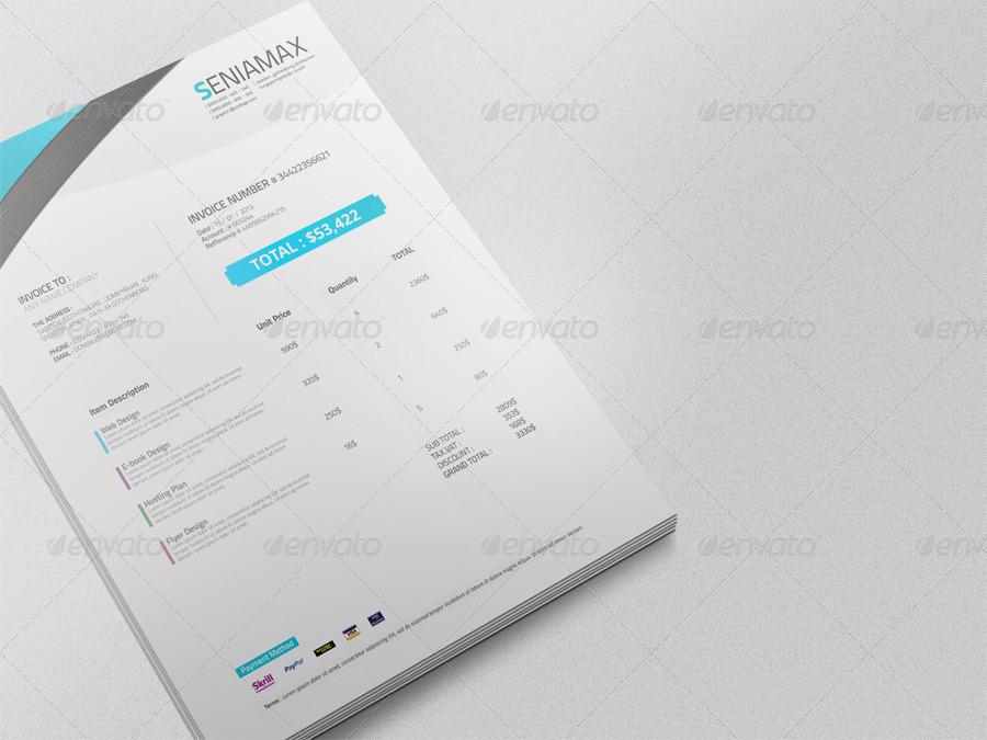 professional invoice template vol.3 by msadesign | graphicriver, Invoice templates