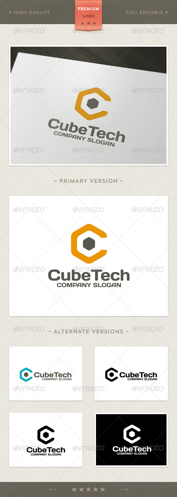 Cube Tech Logo Template - Vector Abstract