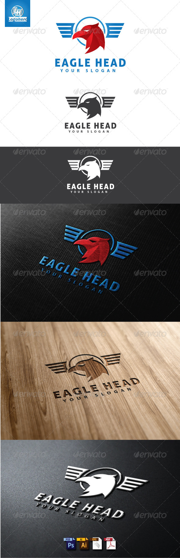 Eagle Head Logo Template - Animals Logo Templates