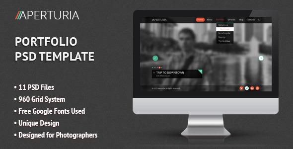 Aperturia - Portfolio PSD Template - Portfolio Creative