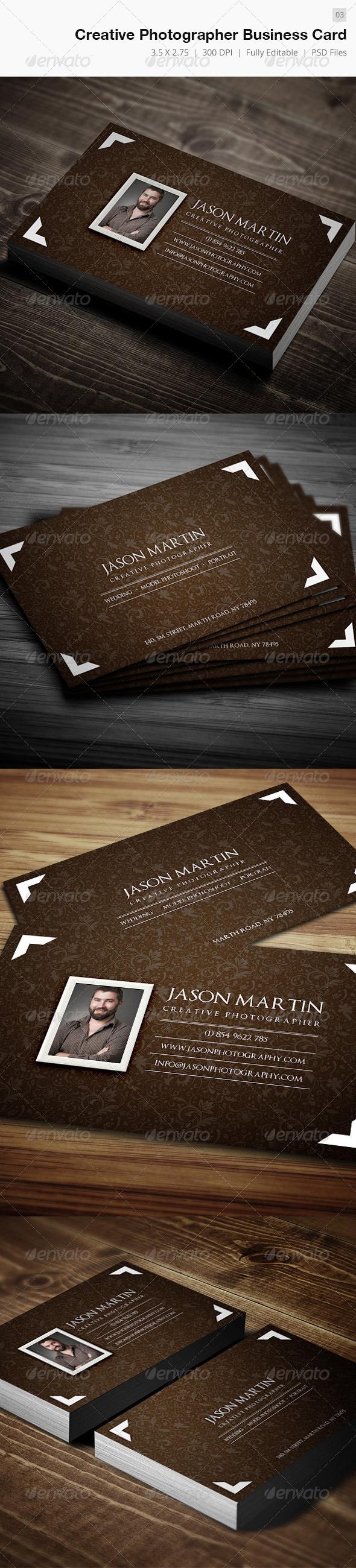 Creative & Royal Photographer Business Card - 03 - Creative Business Cards
