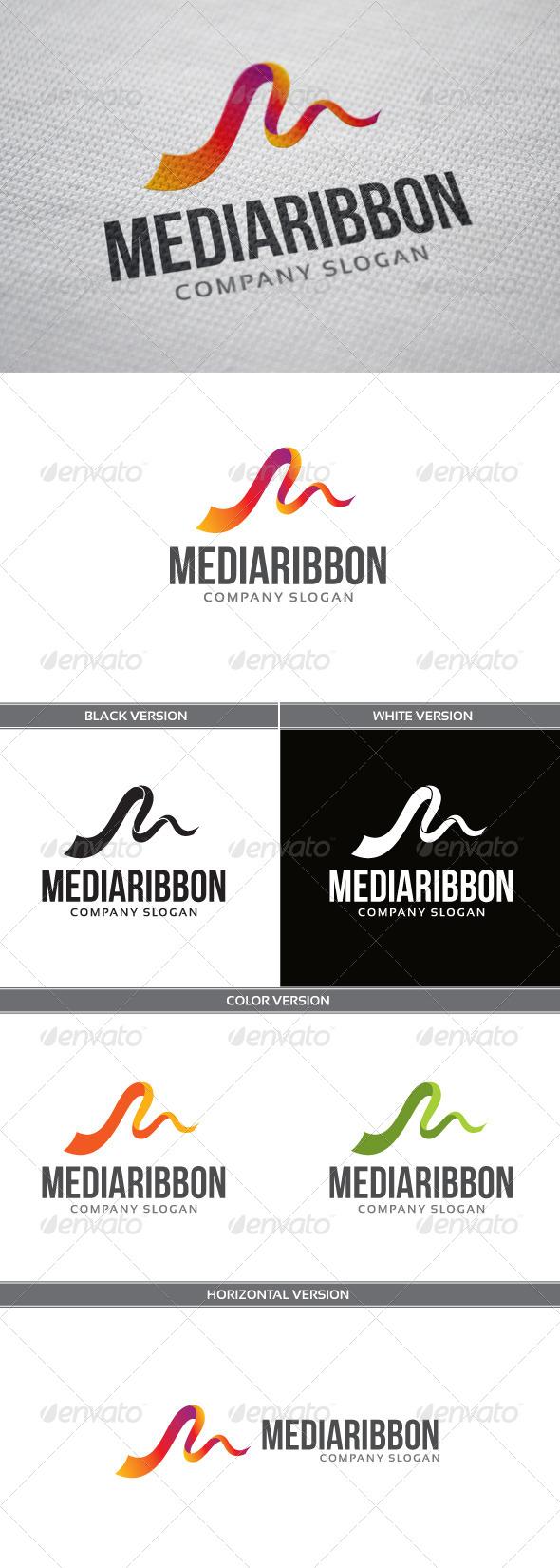 MediaRibbon Logo - Letters Logo Templates