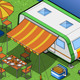 Isometric Roulotte in Camping in Front View - GraphicRiver Item for Sale