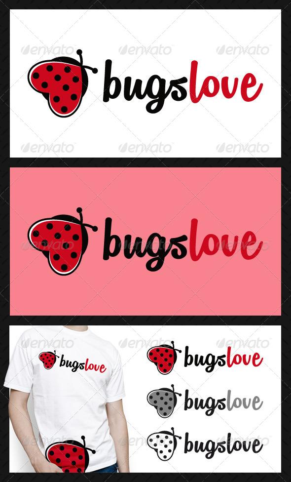 Bugs Love Logo Template - Animals Logo Templates
