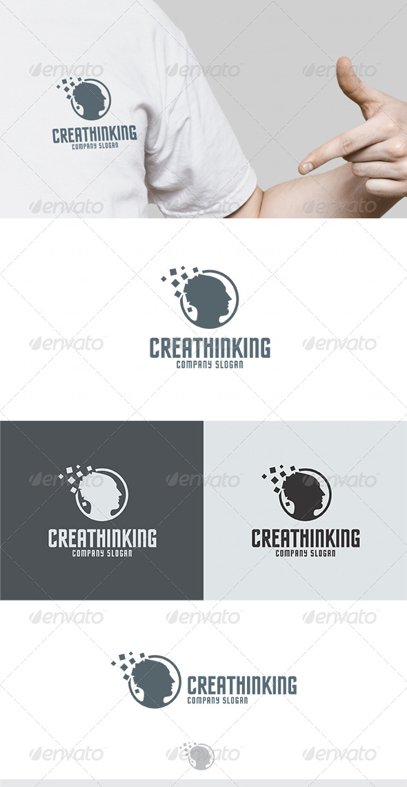 Crea Thinking Logo - Humans Logo Templates