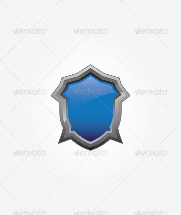 Blue Shield - Objects Vectors