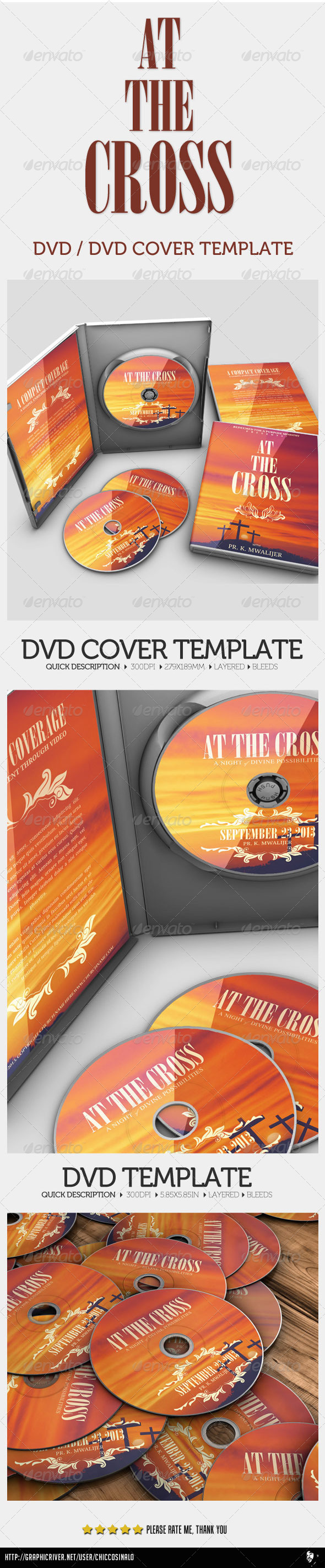 At The Cross Concert Dvd - CD & DVD Artwork Print Templates