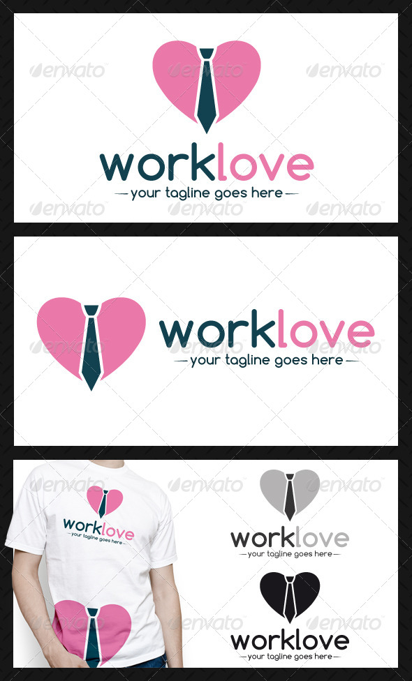 Work Love Logo Template - Objects Logo Templates