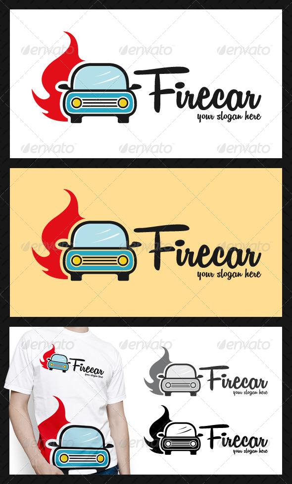 Car Hot Fire LogoTemplate - Objects Logo Templates