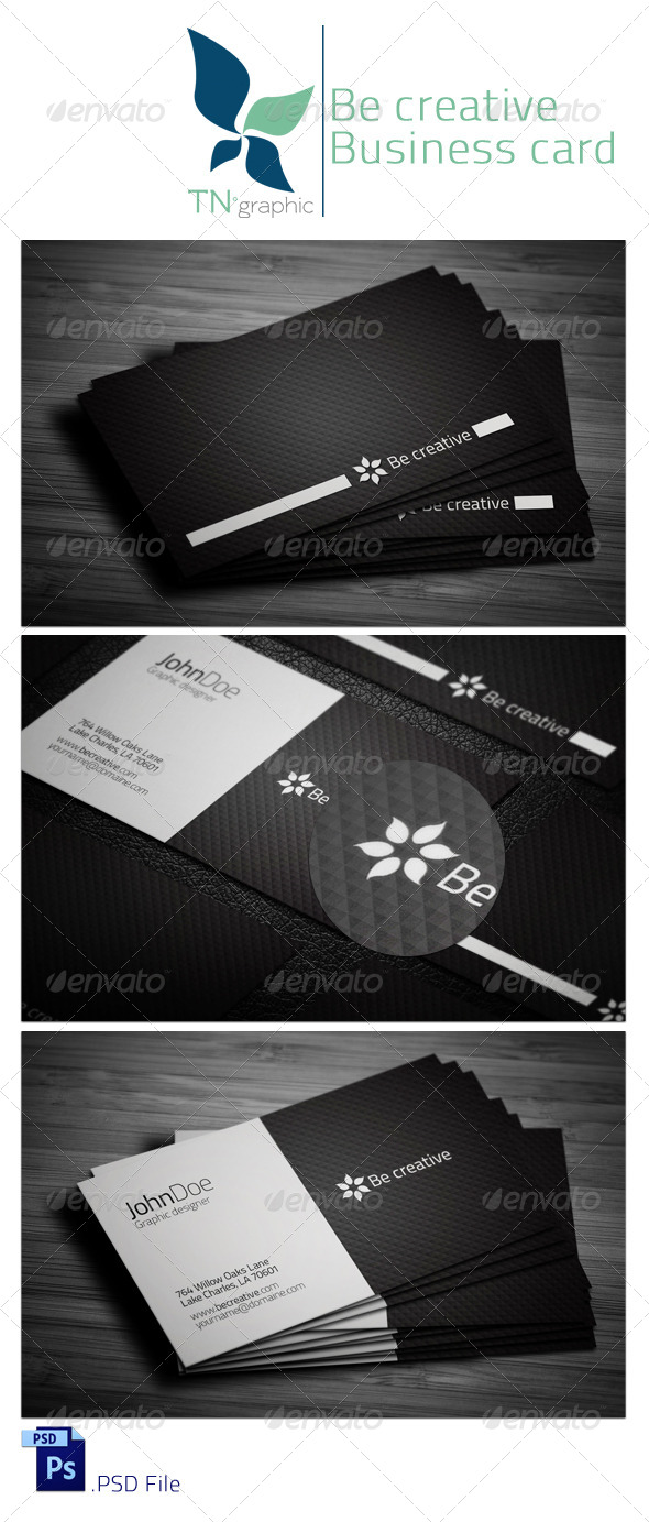 Be Creative II  business Card - Creative Business Cards