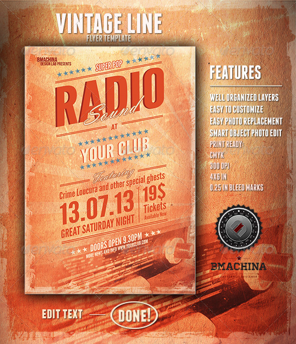 Radio Sound - Flyer Template - Clubs & Parties Events
