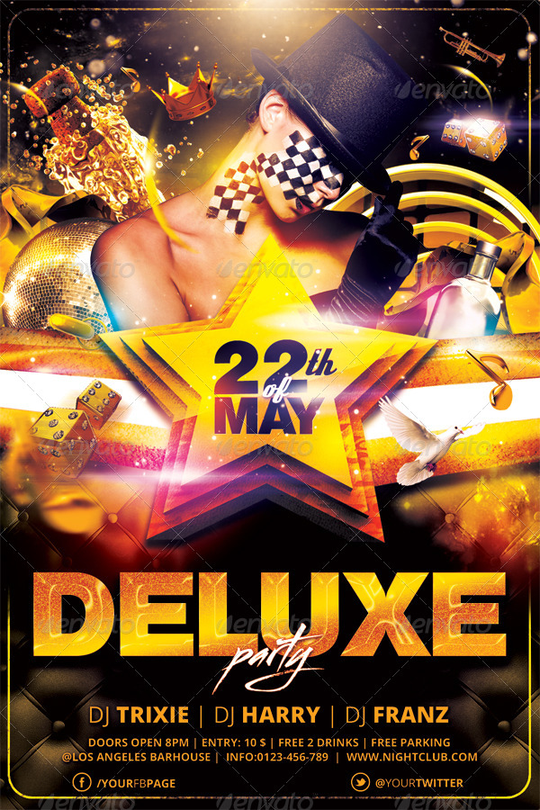 Deluxe | Private | Golden Flyer Template