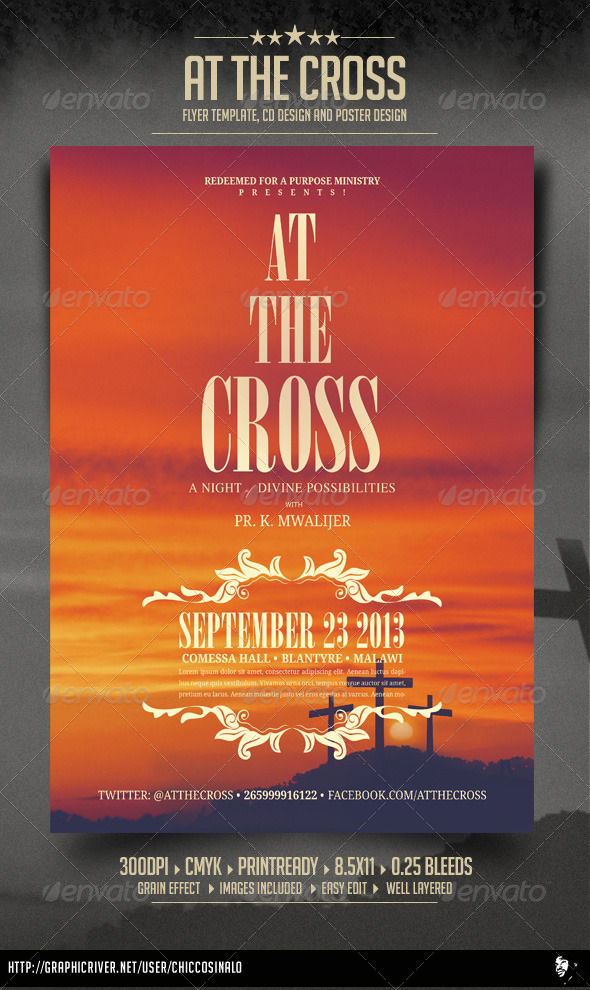 At The Cross Concert Flyer - Concerts Events