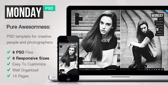 MONDAY — Responsive PSD Template