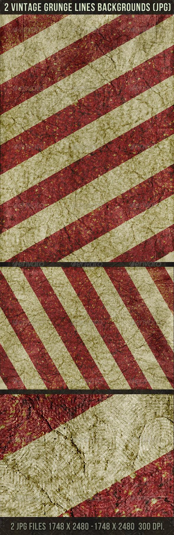 2 Vintage Lines Backgrounds - Urban Backgrounds