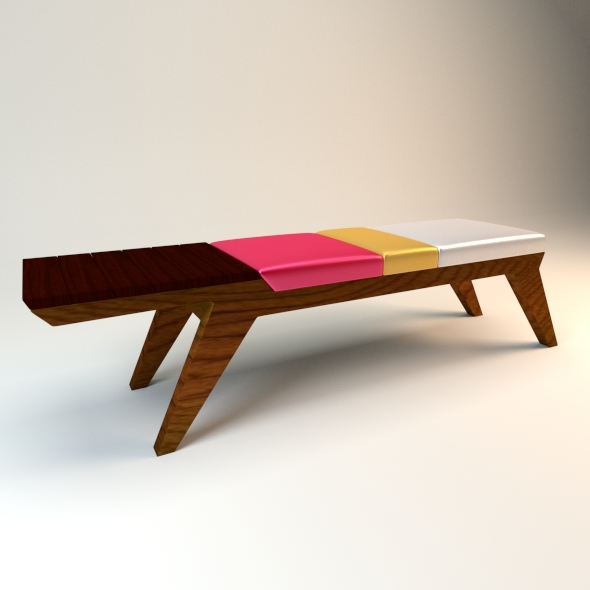 Modern Bench - 3DOcean Item for Sale