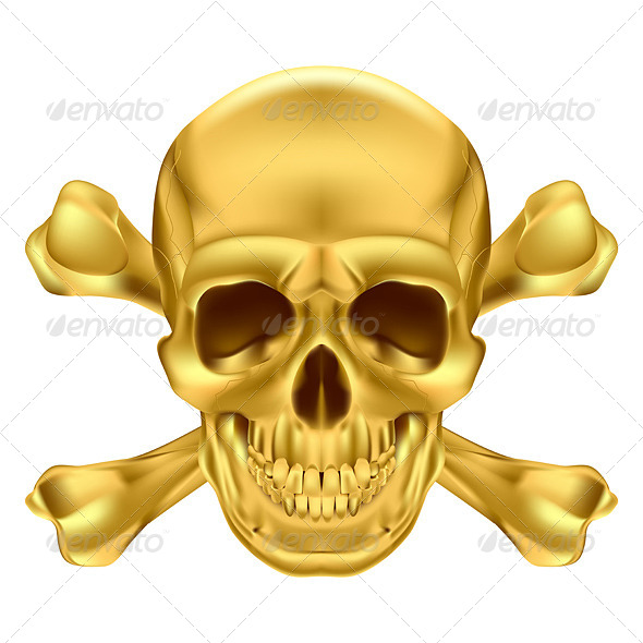 Skull and Crossbones - Abstract Conceptual