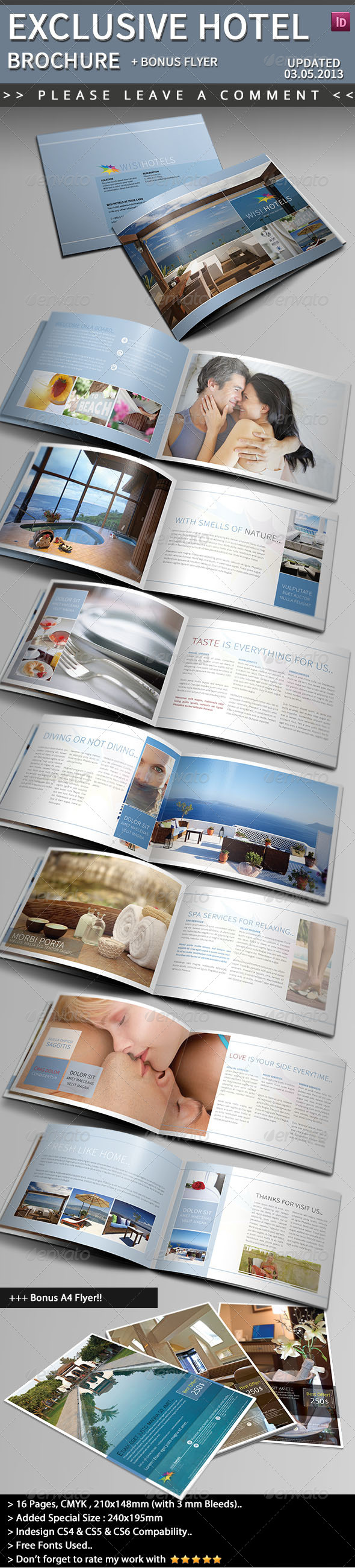 Exclusive Hotel Brochure - Informational Brochures
