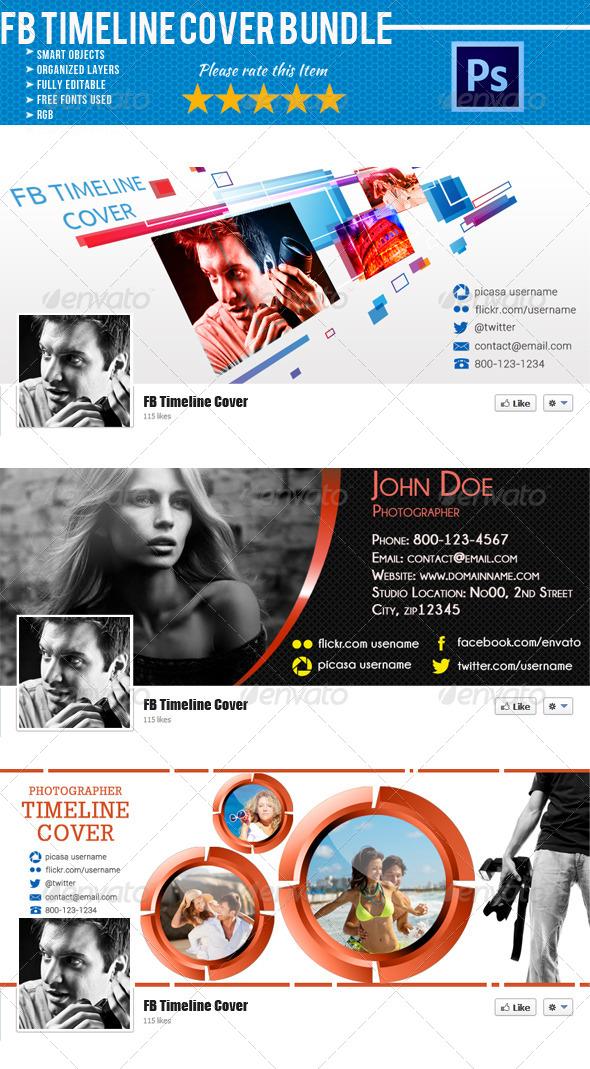 Photographer FB Timeline Cover Bundle 02 - Facebook Timeline Covers Social Media
