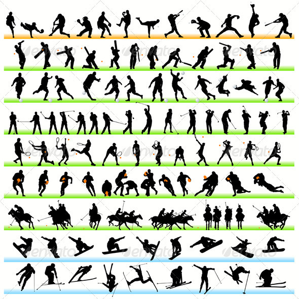 Sport Silhouettes Set - Sports/Activity Conceptual