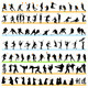 90 Sport Silhouettes Set - GraphicRiver Item for Sale