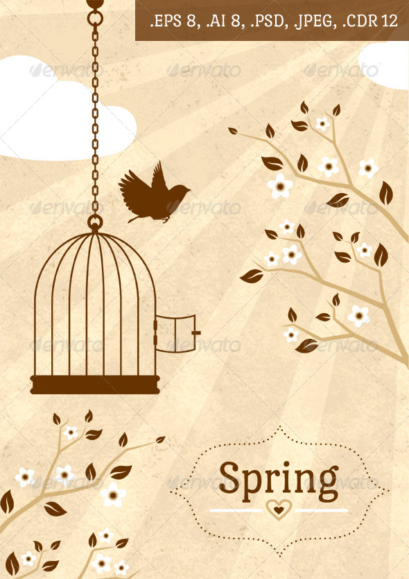 Vintage Spring Card - Miscellaneous Seasons/Holidays