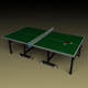 Ping Pong Table with Paddles and Ball - 3DOcean Item for Sale