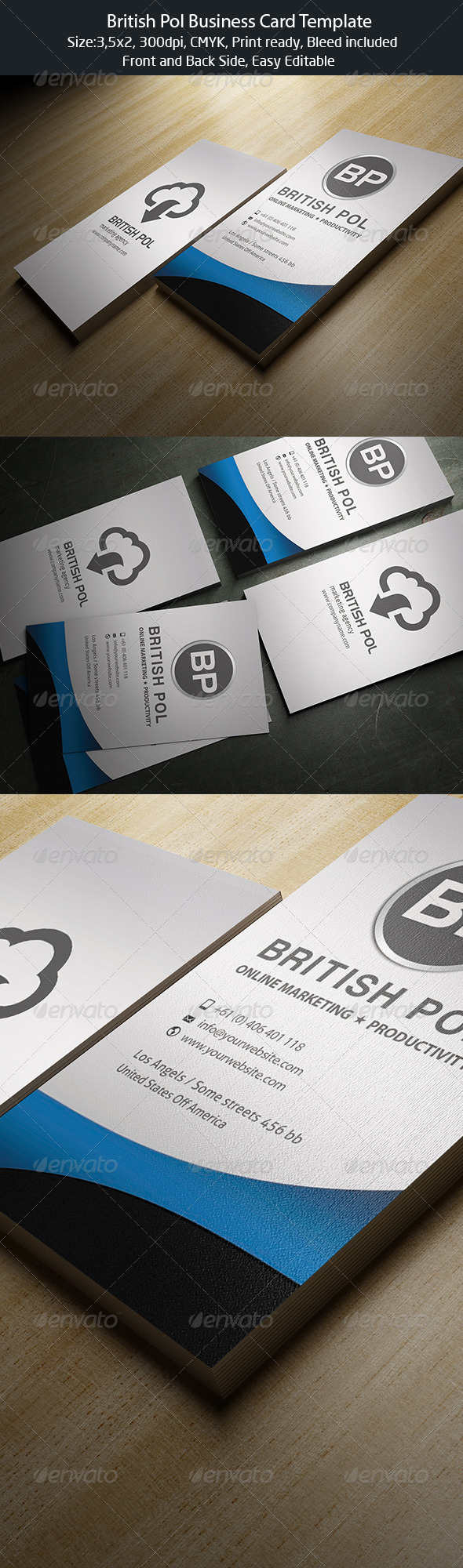 British Pol Business Card - Corporate Business Cards