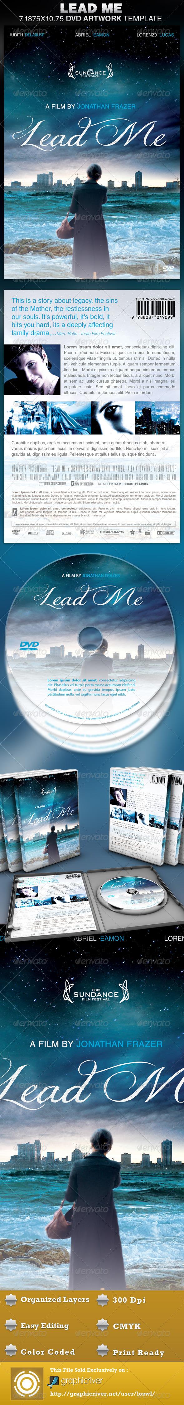 Lead Me DVD Artwork Template - CD & DVD Artwork Print Templates