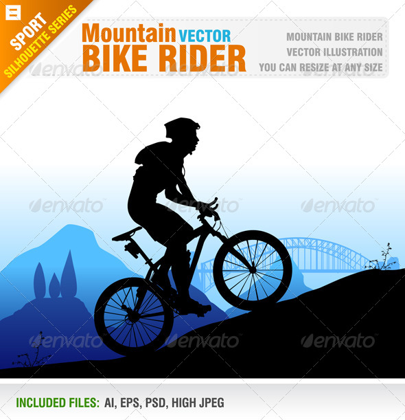 Mountain Bike Rider - Sports/Activity Conceptual