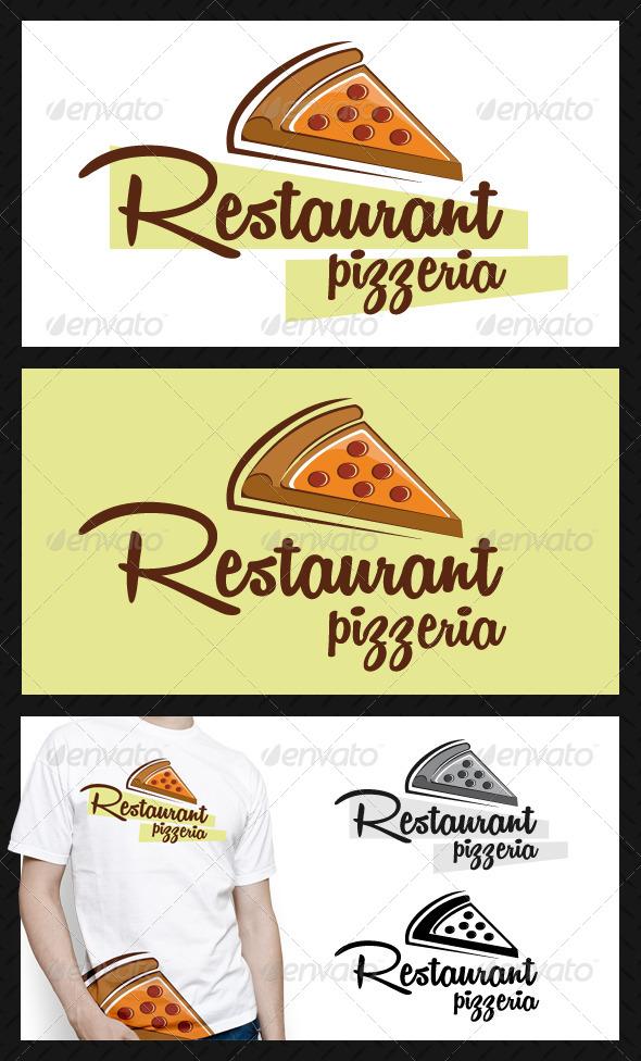 Pizzeria Restaurant Logo Template - Food Logo Templates