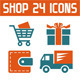 Shop 24 Vector Icons - GraphicRiver Item for Sale