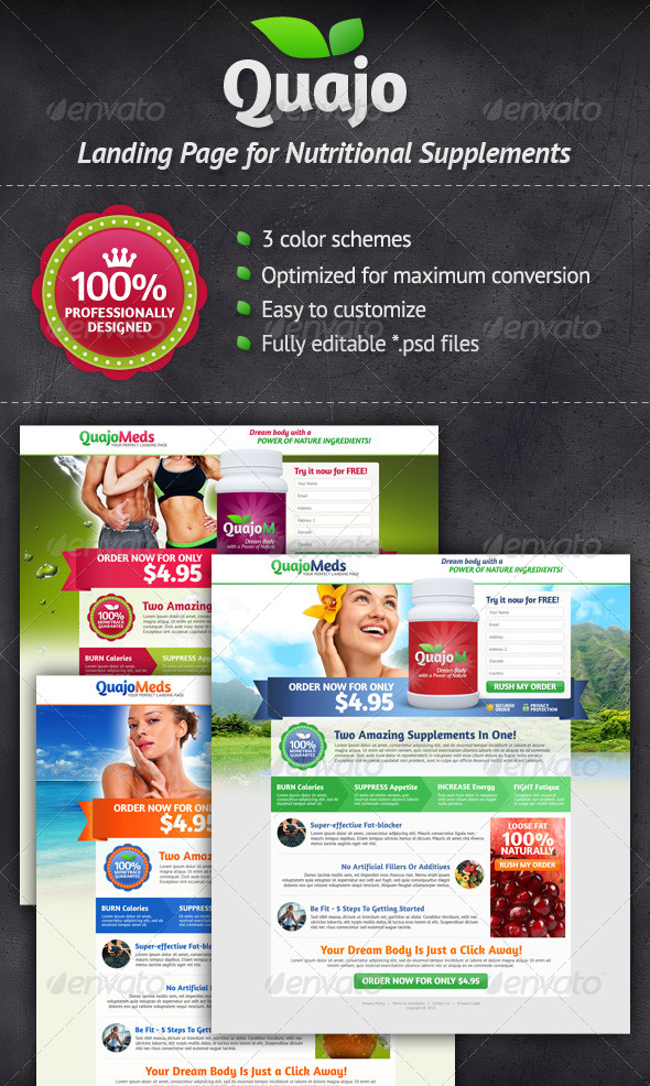 Medical Supplements Landing Page - Miscellaneous Web Elements