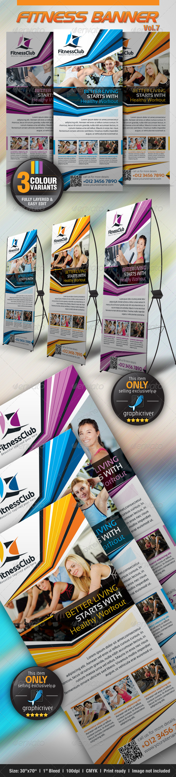 Fitness Banner Vol.7 - Signage Print Templates