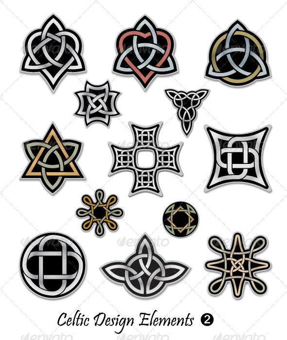 Celtic Design Elements - Decorative Symbols Decorative