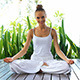 Woman In Lotus Position Meditating - VideoHive Item for Sale