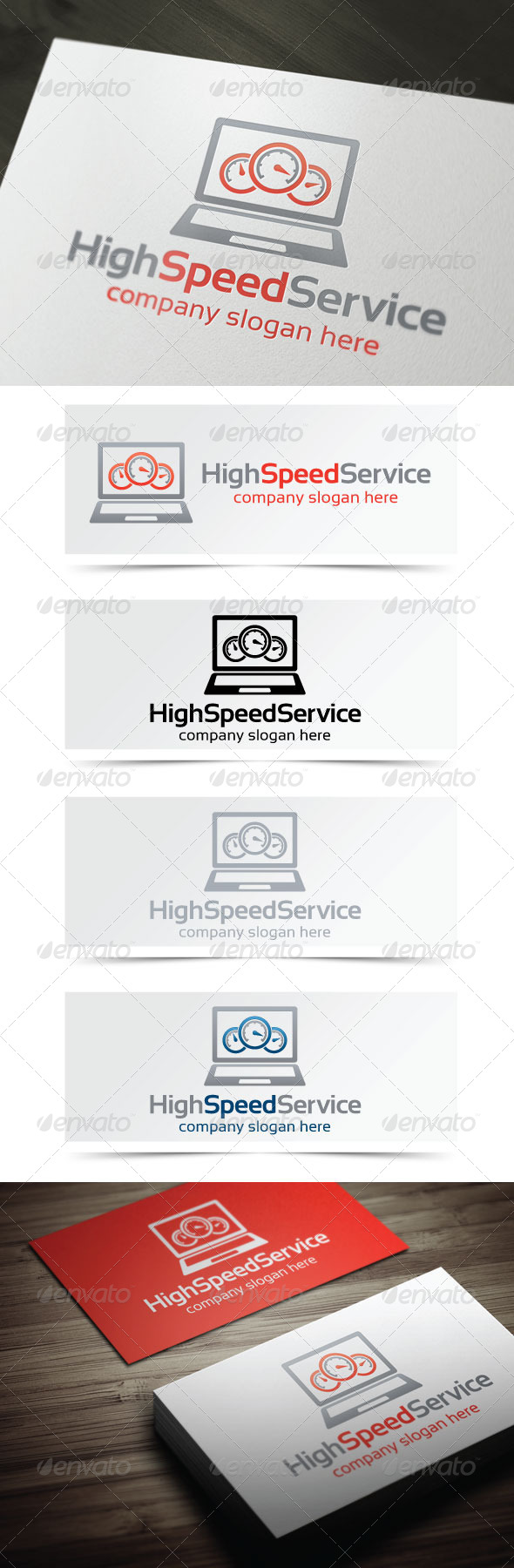 High Speed Service - Objects Logo Templates