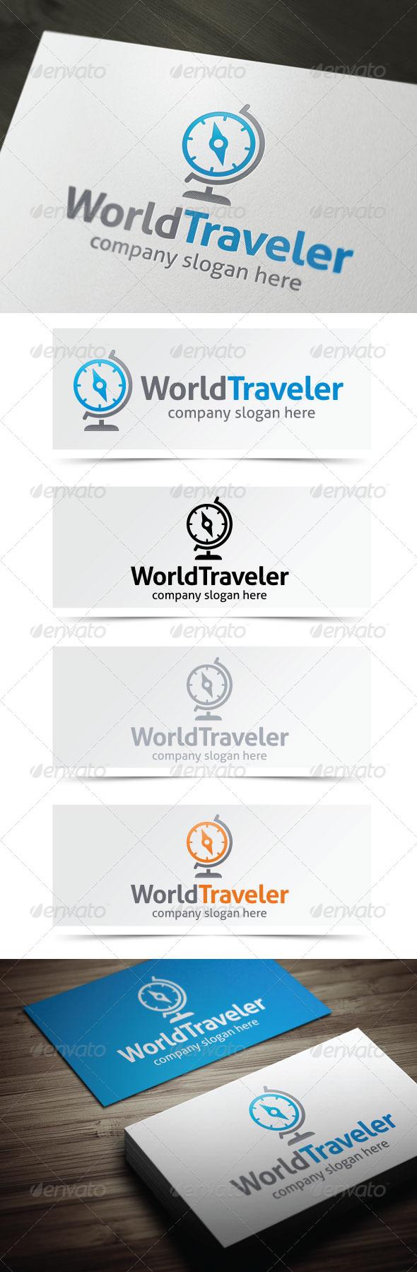 World Traveler - Objects Logo Templates