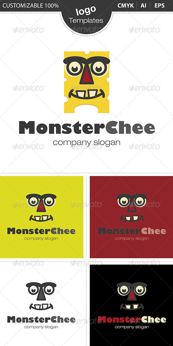 MonsterChee Logo - Food Logo Templates